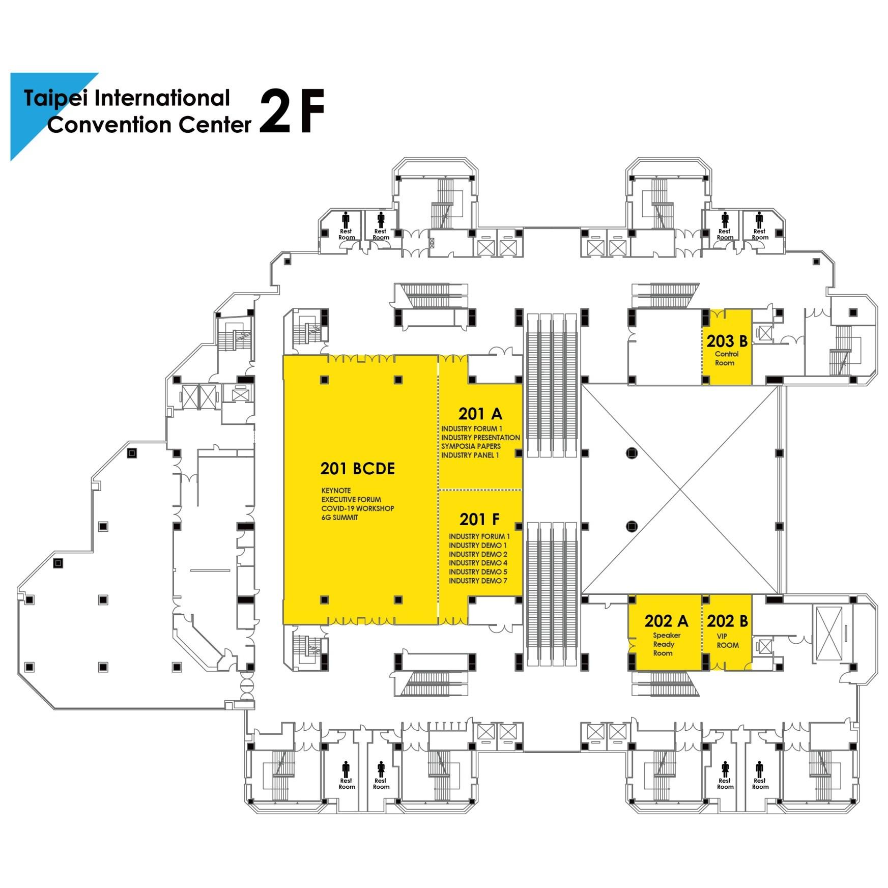 TICC Venue Floor Map 2F