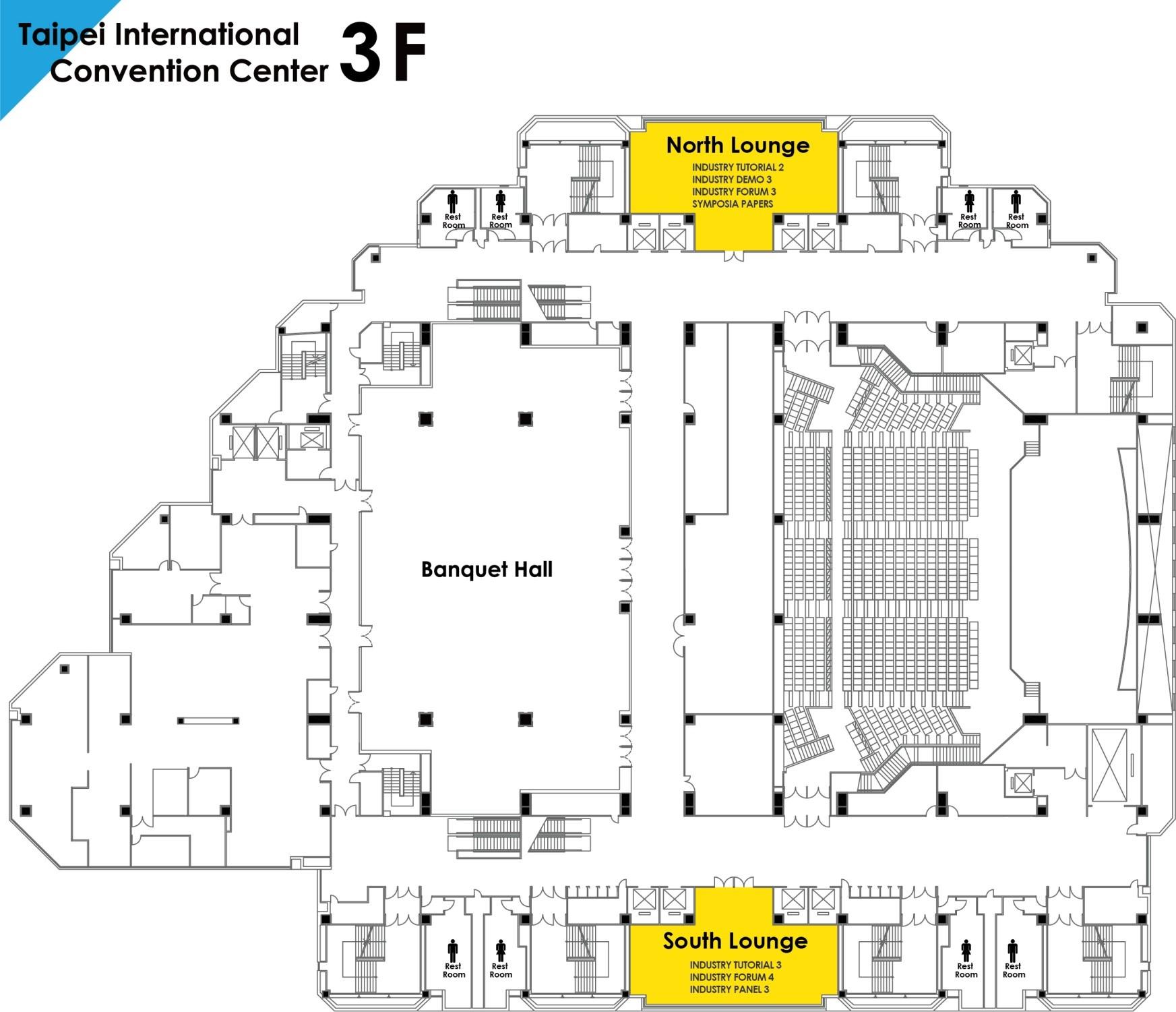 TICC Venue Floor Map 3F